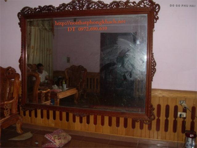 Gương treo tường ,Gương tường hoa lá tây GT06