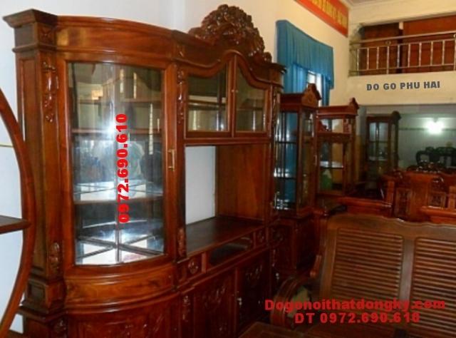 Tủ để rượu đẹp, Tủ rượu gỗ hương TR14
