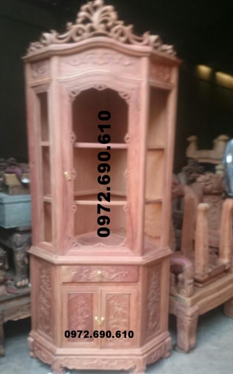 Tủ góc trang trí đẹp, kệ góc bày rượu Dogodongky.net.vn TG11
