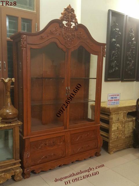 Mẫu Tủ Để Rượu Đẹp, Tủ Rượu Trưng Bày Phòng Khách TR28