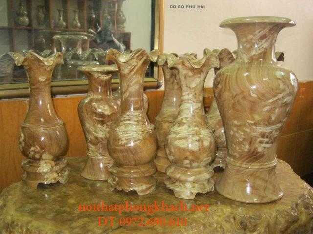 Đồ mỹ nghệ: Đôi lộc bình gỗ nu LBN05