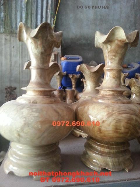 Gỗ Nu Nghiến ,Lộc bình gỗ nu LBN24