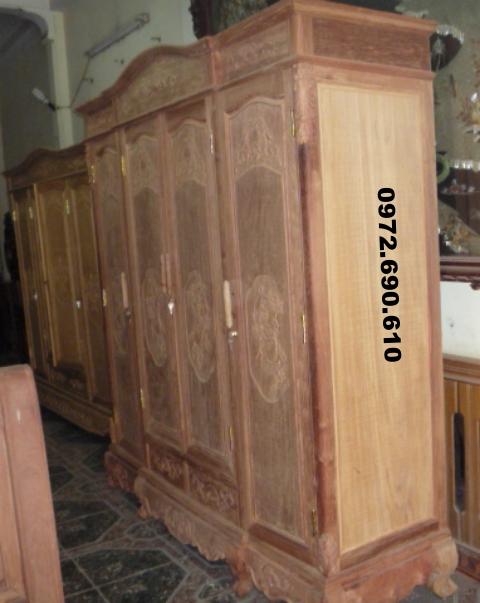 Tủ quần áo, Tủ áo 3 Buồng 4 Cánh T3B4C3