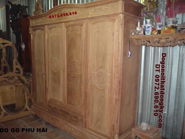 Tủ quần áo gỗ hương, Tủ áo 4 Cánh T3B4C5