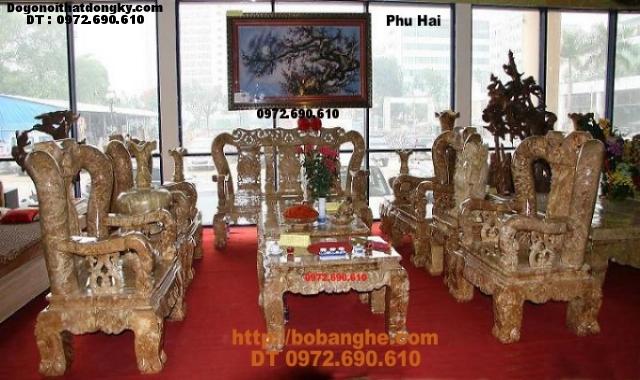 Bộ bàn ghế gỗ nu nghiến cột 14cm kiểu Minh Quốc NG10