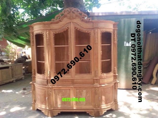 Tủ Rượu đẹp, Tủ trưng bày rượu mẫu cổ điển TR15