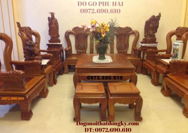 Bàn ghế đồng kỵ đẹp kiểu quốc voi B116