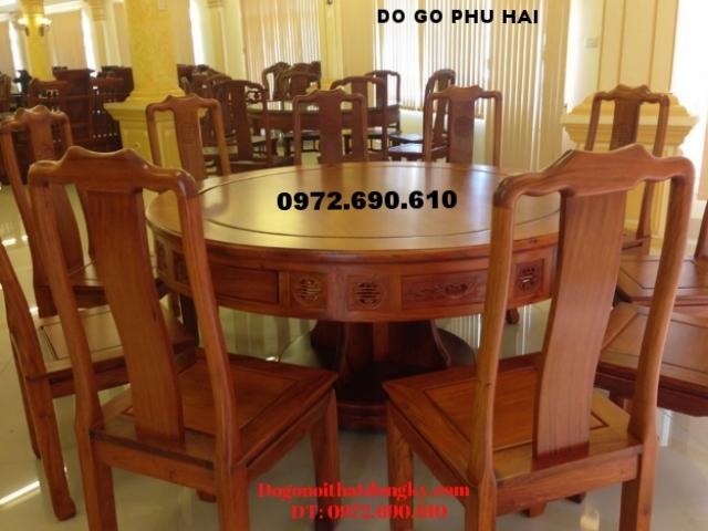 Bàn ghế ăn cơm đẹp giá rẻ Kiểu bàn tròn BA62