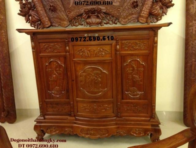 Tủ thờ gỗ hương chạm tam đa TT37