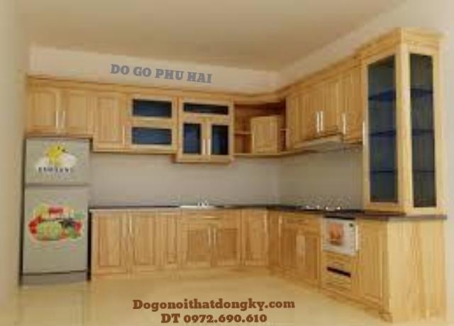 Tủ bếp, Tu bep sang trọng gỗ pomu TB6