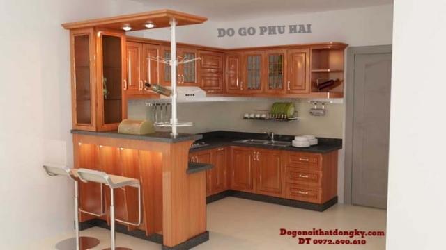 Cách chọn gỗ và nhà sản xuất để có Tủ bếp đẹp như ý TB7...