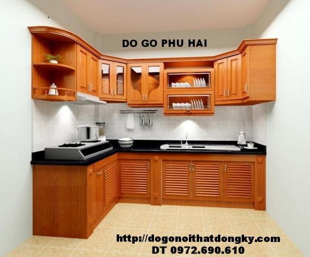 Tủ bếp – Nơi đóng tủ bếp đẹp gỗ camxe TB9