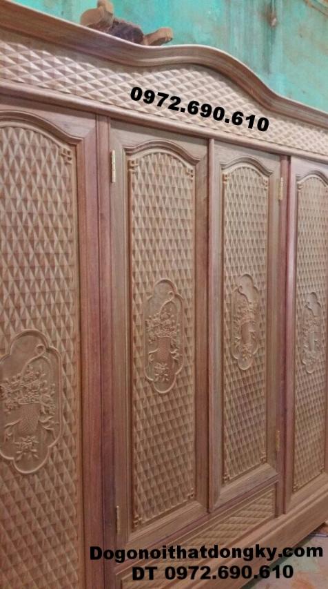 Mẫu Tủ quần áo gỗ đinh hương đẹp và hiện đại TA14