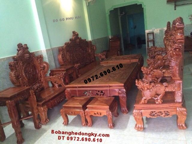 Bàn ghế gỗ đẹp Rồng Bảo đỉnh Bobanghedongky.com B196