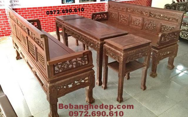 Bộ ghế tràng kỷ gỗ gụ dogonoithatdongky.com B215