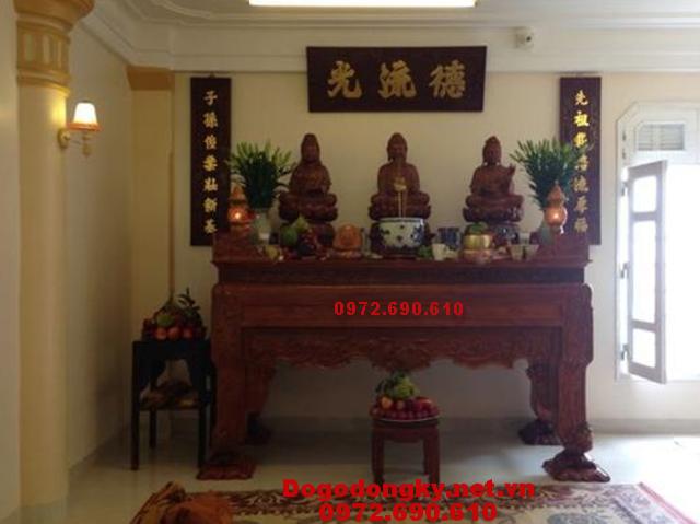 Mẫu bàn thờ Phật đẹp, Bàn thờ gỗ gụ mật ST91