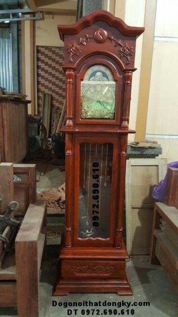 Đồng Hồ Để Phòng Khách Đẹp Gỗ Hương DH115