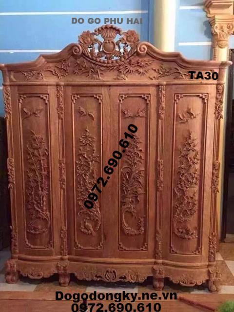 Tủ Quần Áo Mẫu Đẹp, Tủ Áo Hoa Hồng TA30