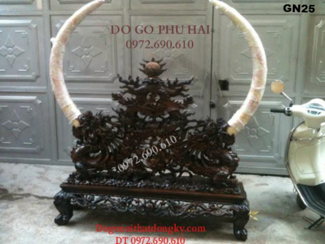 Giá Để Ngà Voi Gỗ Mun Quí Và Hiếm Dogodongky.net.vn GN25