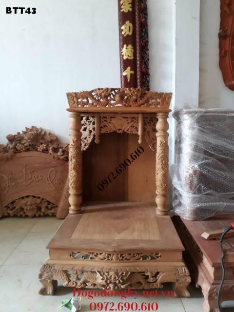 Bàn Thờ Thần Tài Cỡ Nhỏ xinh Cho Nhà Chung Cư BTT43