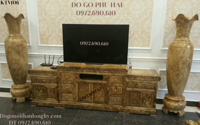 Mẫu Kệ Để Ti vi Gỗ Nu Nghiến Đẹp Cho Phòng Khách Vip KTV106