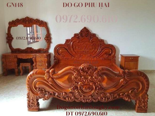 Nơi Bán Bộ Giường Ngủ Đẹp Và Sang Cho Phòng Ngủ Vip GN148