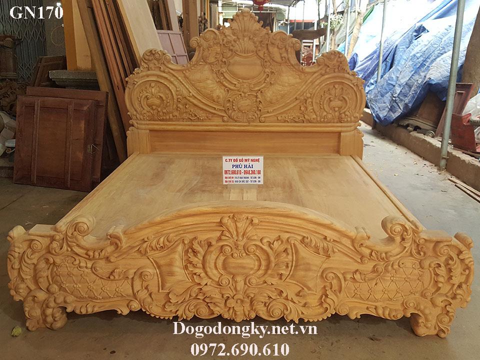 Giường Ngủ Hoàng Gia Đẳng Cấp - Đồ Gỗ Phú Hải GN170